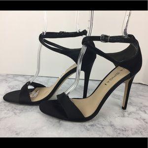 Via Spiga Tiara High Heels Satin Size 7.5 New